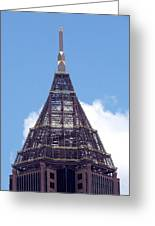 Top Of Tower Of Bank Of America Plaza Greeting Card