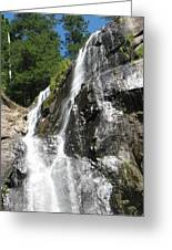 Top Part Of Silver Falls Greeting Card