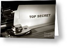 Top Secret Document In Armored Briefcase Greeting Card