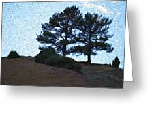 Top The Red Rocks Greeting Card