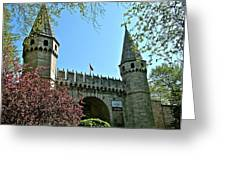 Topkapi Palace Wall And Gate In Istanbul-turkey Greeting Card
