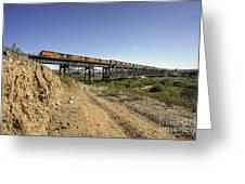 Topock Bridge Freight Greeting Card