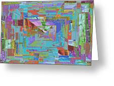 Topographic Albatross Greeting Card