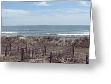 Topsail Beach Panorama 2 Greeting Card