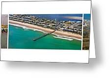 Topsail Island Aerial Panels Greeting Card