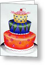 Topsy Turvy Cake Greeting Card