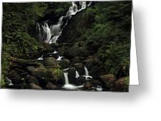 Torc Waterfall Greeting Card by Peter Skelton