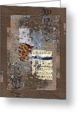 Torn Papers On Wall Greeting Card by Carol Leigh