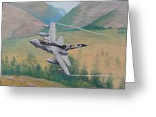 Tornado Gr4 - Shiny Two Flying Low Greeting Card
