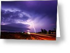 Tornado Warning In Northern Buffalo County Greeting Card
