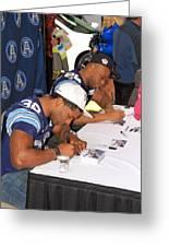 Toronto Argonauts Players Signing Autographs Greeting Card by Valentino Visentini