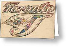 Toronto Blue Jays Logo Art Greeting Card
