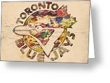 Toronto Blue Jays Vintage Art Greeting Card