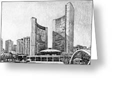 Toronto City Hall I Study Greeting Card