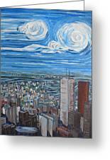 Toronto Cn Tower Veiw North East Greeting Card