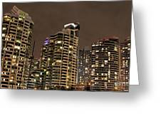 Toronto Condos On A Cold Winter Night Greeting Card
