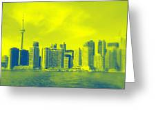 Toronto Downtown View Greeting Card