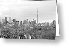 Toronto In Black And White Greeting Card
