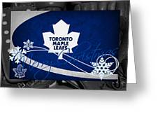 Toronto Maple Leafs Christmas Greeting Card