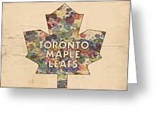 Toronto Maple Leafs Hockey Poster Greeting Card