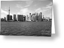 Toronto On Skyline Greeting Card