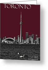 Toronto Poster Greeting Card