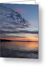 Toronto Skyline In Pastel Blue Pink Yellow Orange And Purple Greeting Card
