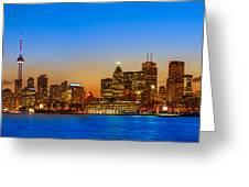 Toronto Skyline Panorama Greeting Card