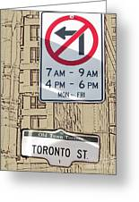 Toronto Street Sign Greeting Card