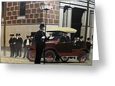 Toronto Traffic Cop 1912 Greeting Card