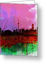 Toronto Watercolor Skyline Greeting Card