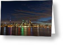 Toronto's Dazzling Skyline  Greeting Card