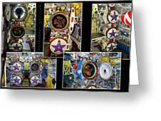 Torpedo Tubes Collage Russian Submarine Greeting Card