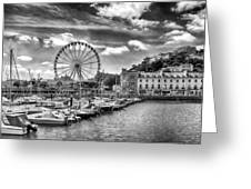 Torquay Harbor Greeting Card