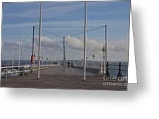 Torquay Pier Devon Greeting Card