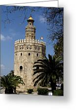 Torre Del Oro Greeting Card