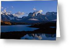 Torres Del Paine, Patagonia, Chile Greeting Card