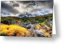 Torres Del Paine Peaks Greeting Card