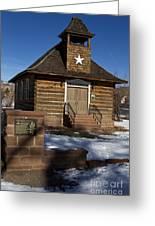 Torrey Log School And Church Utah Greeting Card