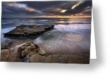 Torrey Pines Flat Rock Greeting Card