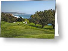 Torrey Pines Golf Course North 6th Hole Greeting Card by Adam Romanowicz