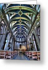 Tossa De Mar Church Greeting Card