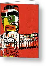 Totem Pole 02 Greeting Card