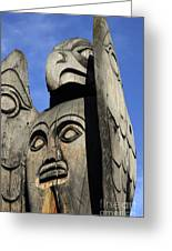 Totem Pole 7 Greeting Card