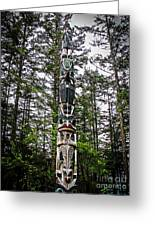 Totem Pole Of Southeast Alaska Greeting Card by Robert Bales