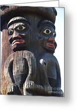 Totem Twins Greeting Card