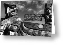 Totems 2 Greeting Card