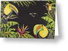 Toucan Fun Greeting Card by Nickie Bradley