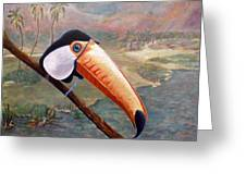 Toucan On A Limb Greeting Card