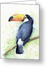 Toucan Watercolor Greeting Card